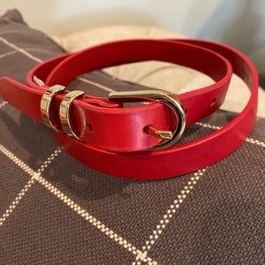 Banana Republic red leather belt XS